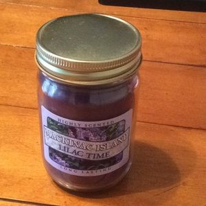 Highly scented lilac candle from mackinac island